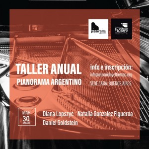 Flyer Taller Anual Pianorama 2019. 1º encuentro marzo